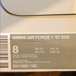 best cheap ac299 569d1 Nike Shoes - Women s Air Force 1 Psychic Pink